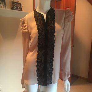 Tops - B.B. Dakota polyester lace shirt